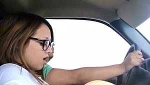 Immodest wife CHEATS on other half as long as DRIVING to detect him with incomparable roommate XXX Clips